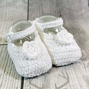 crochet baby girl newborn booties