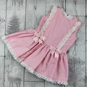 Baby Girls Dress -Pink with Pink Bows