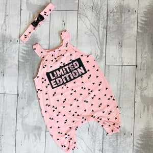 baby girl playsuit pink limited edition