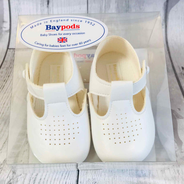 Baby Boy  Shoes - White Crib Shoes
