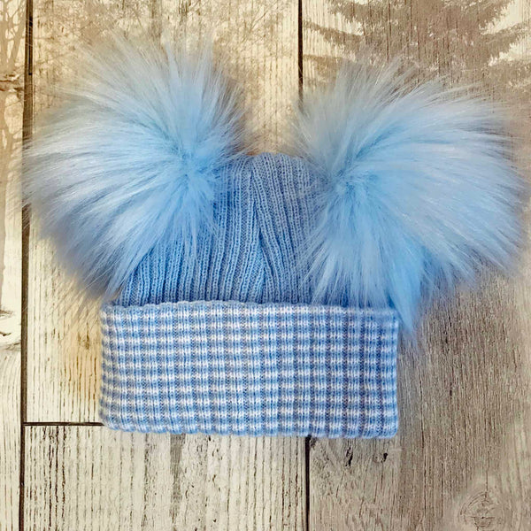 baby hat double pom newborn