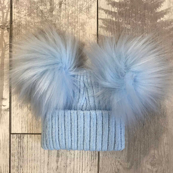 double pom baby boys hat