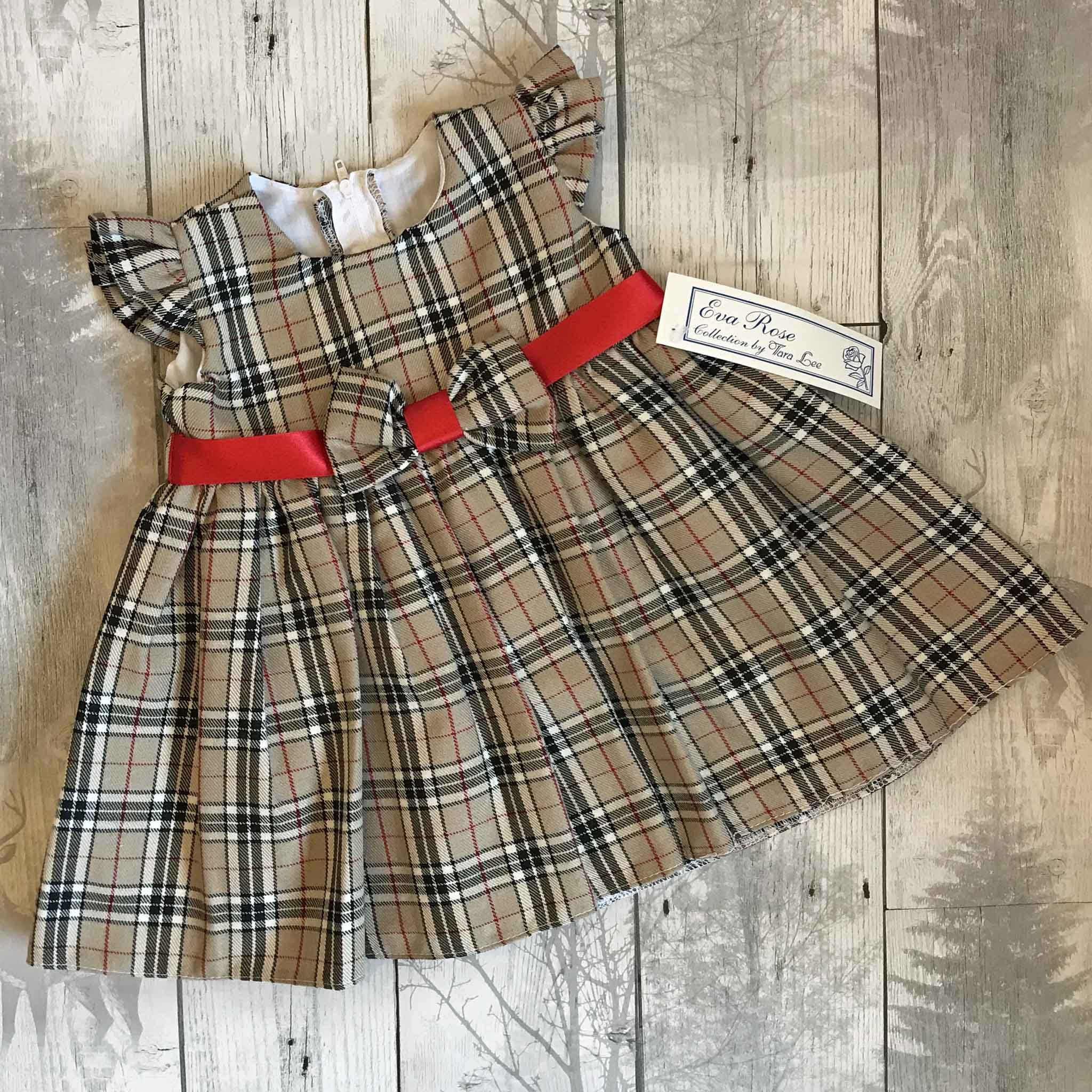 Baby Girls Burberry Style Tartan Dress