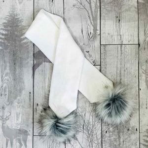 personalised baby scarf white