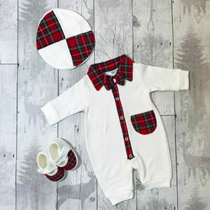 personalised first christmas baby outfit
