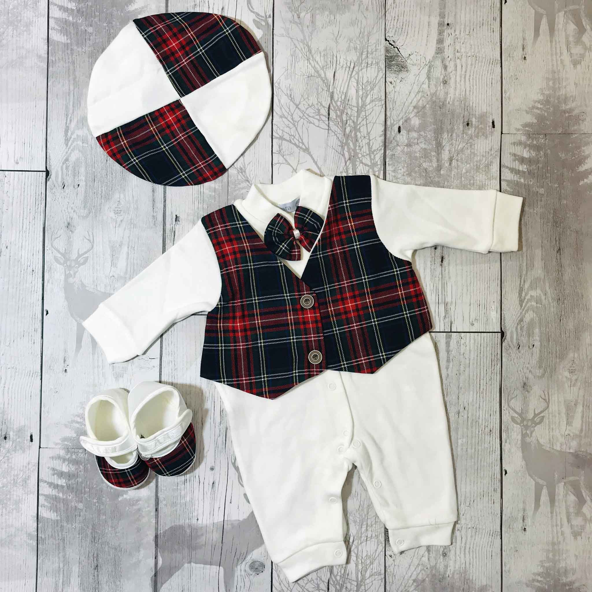 Three Piece Outfit- All in One, Hat, Shoes  - Can be Personalised