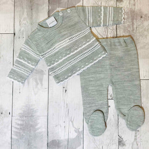 baby boy knitted outfit dandelion