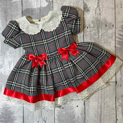 baby girl tartan christmas dress