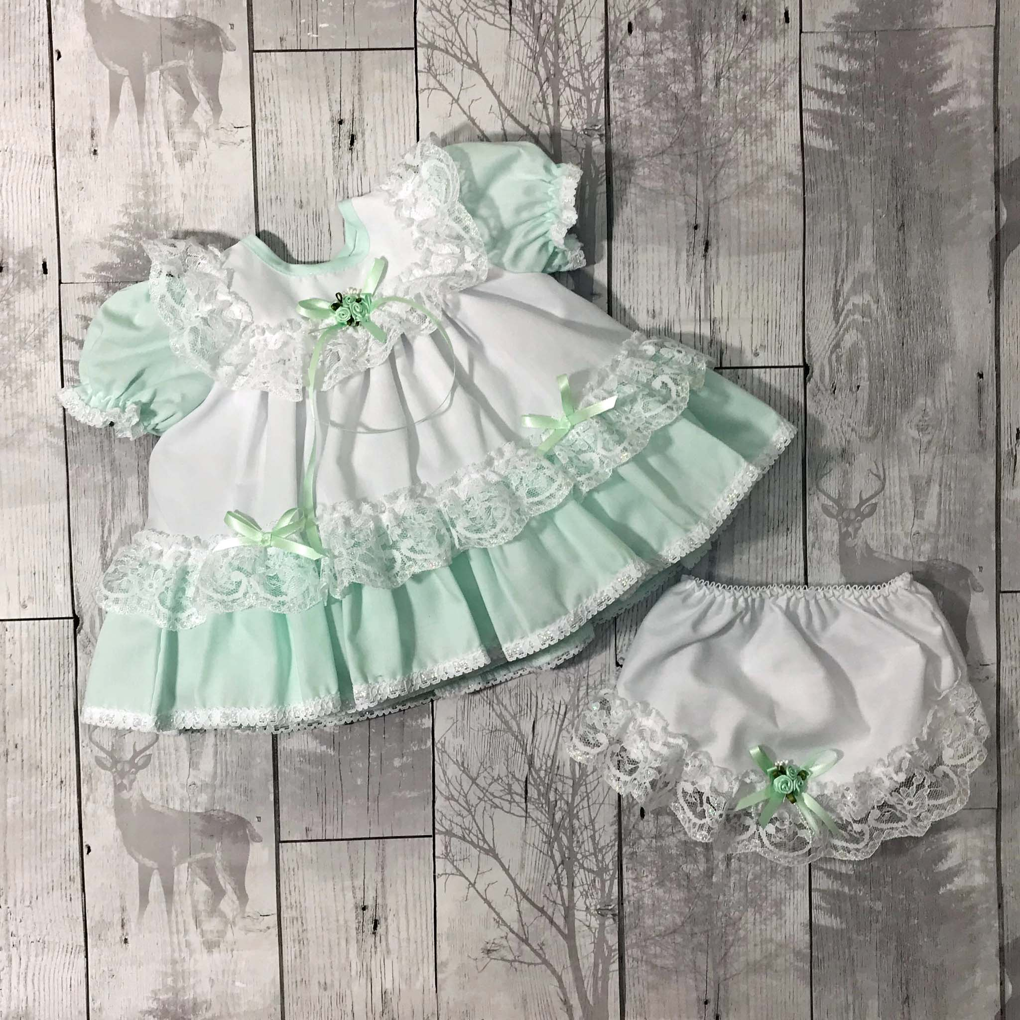 baby girlmint green summer dress