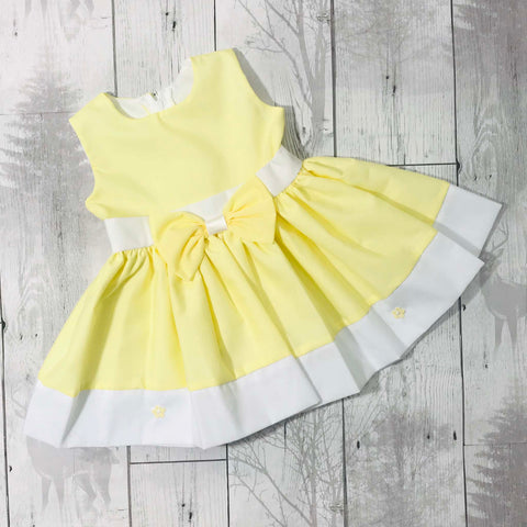 yellow baby dress easter