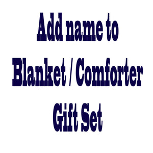 embroidery on blanket and comforter gift set