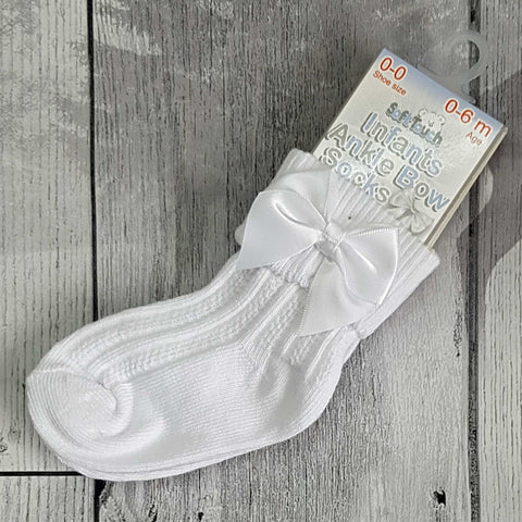 unisex baby white ankle socks