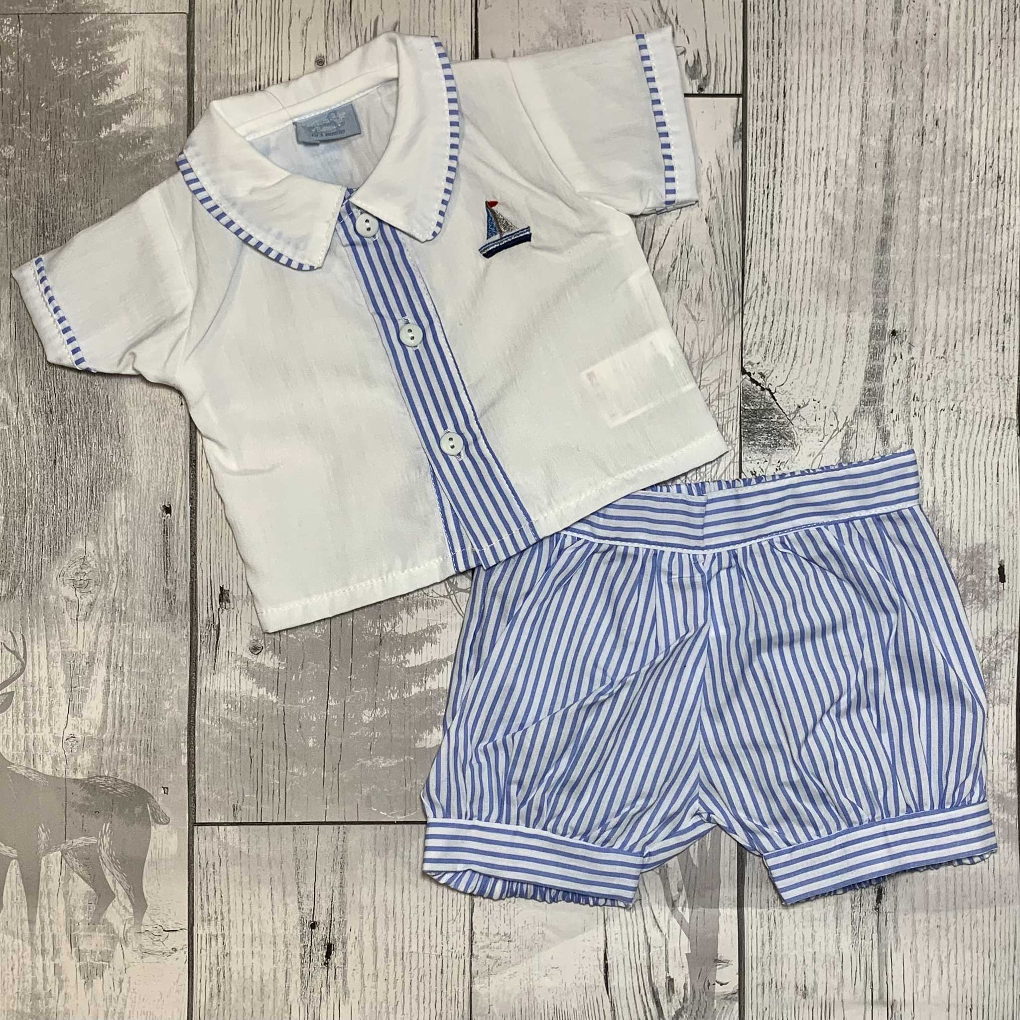 Boys Shorts and Cotton Shirt Outfit