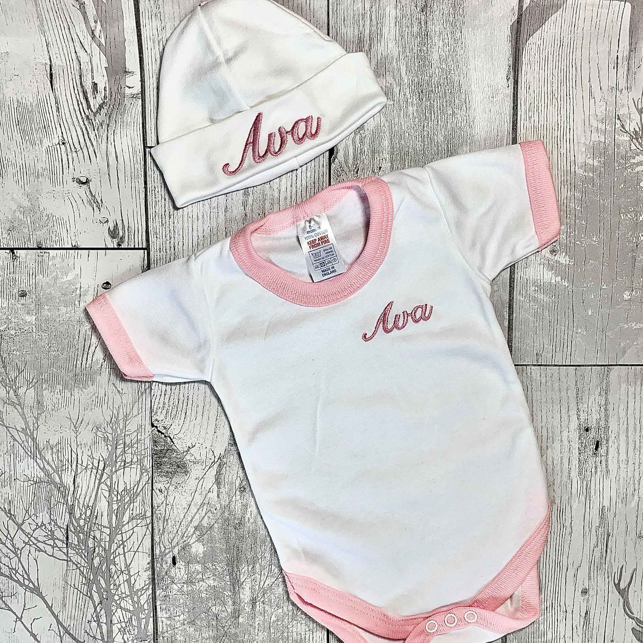 personalised baby girl outfit