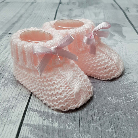 baby booties pink