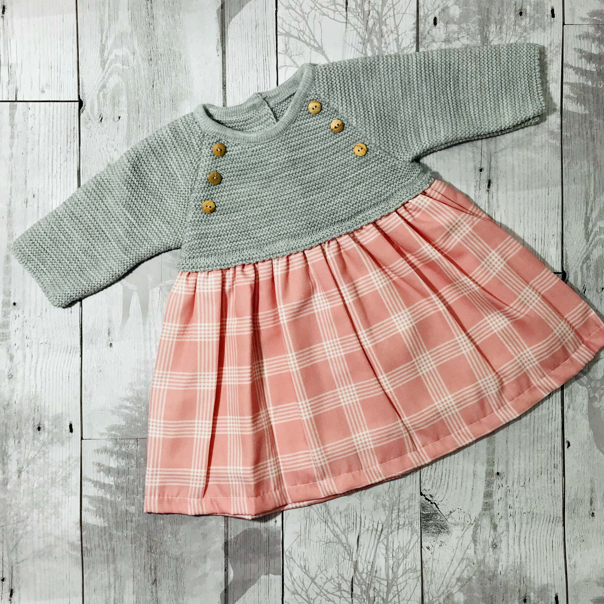dusky pink baby girl dress