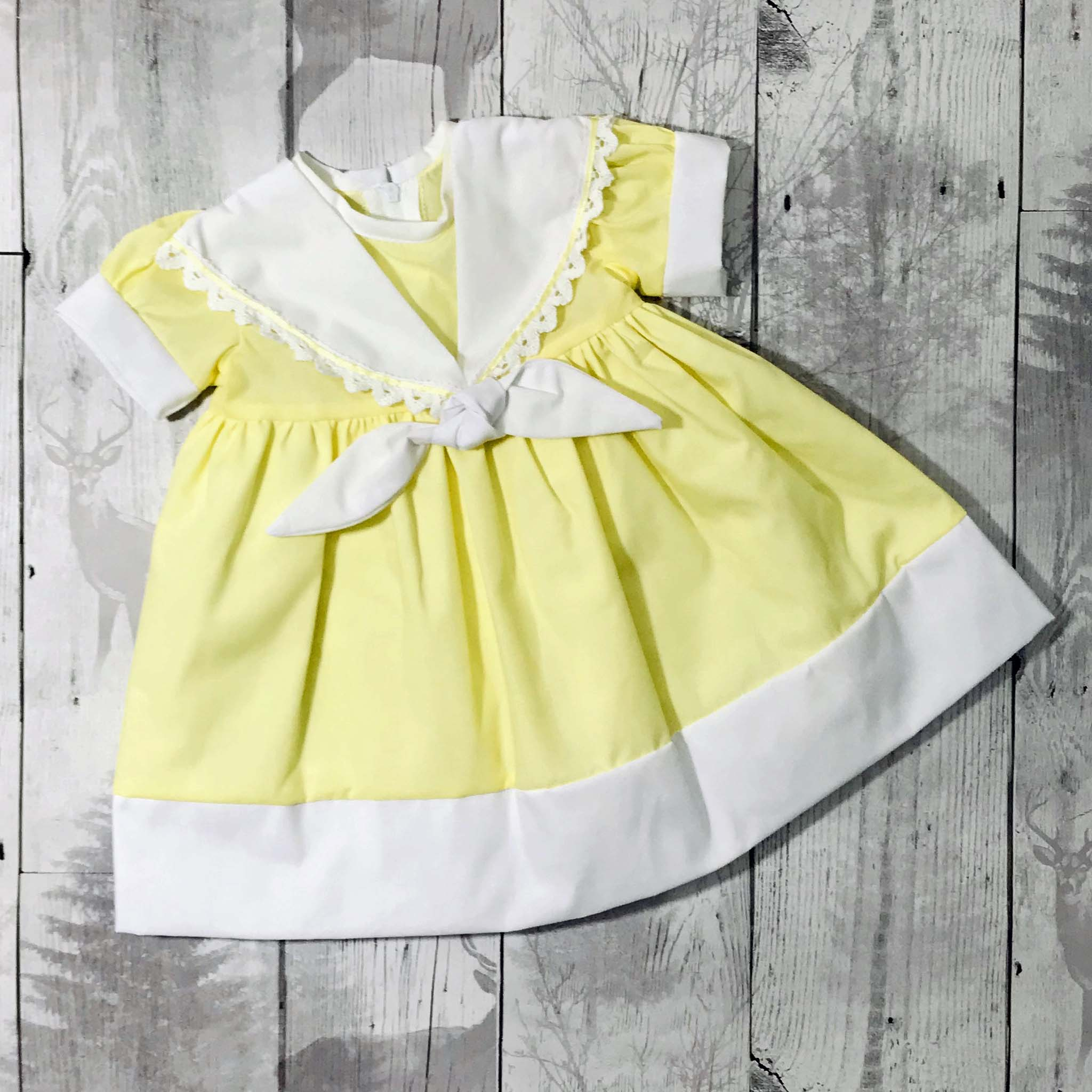 baby girl yellow dress easter outfit