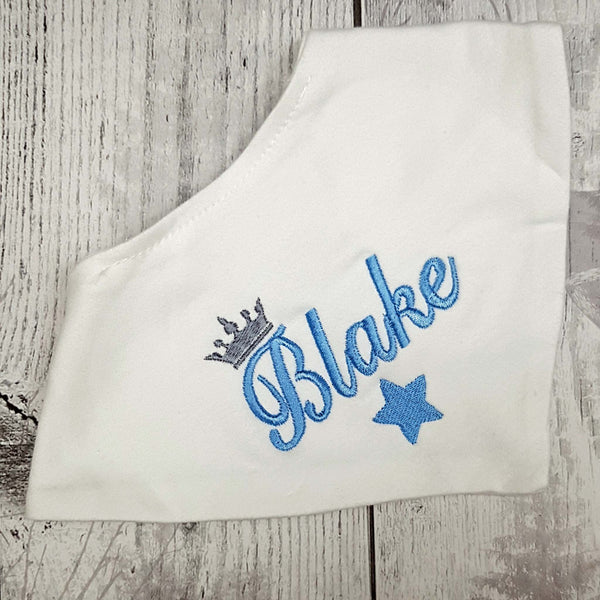 personalised baby bib white bandana