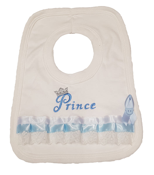 Baby Boy's Fancy Prince Bib