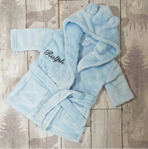 baby blue dressing gown