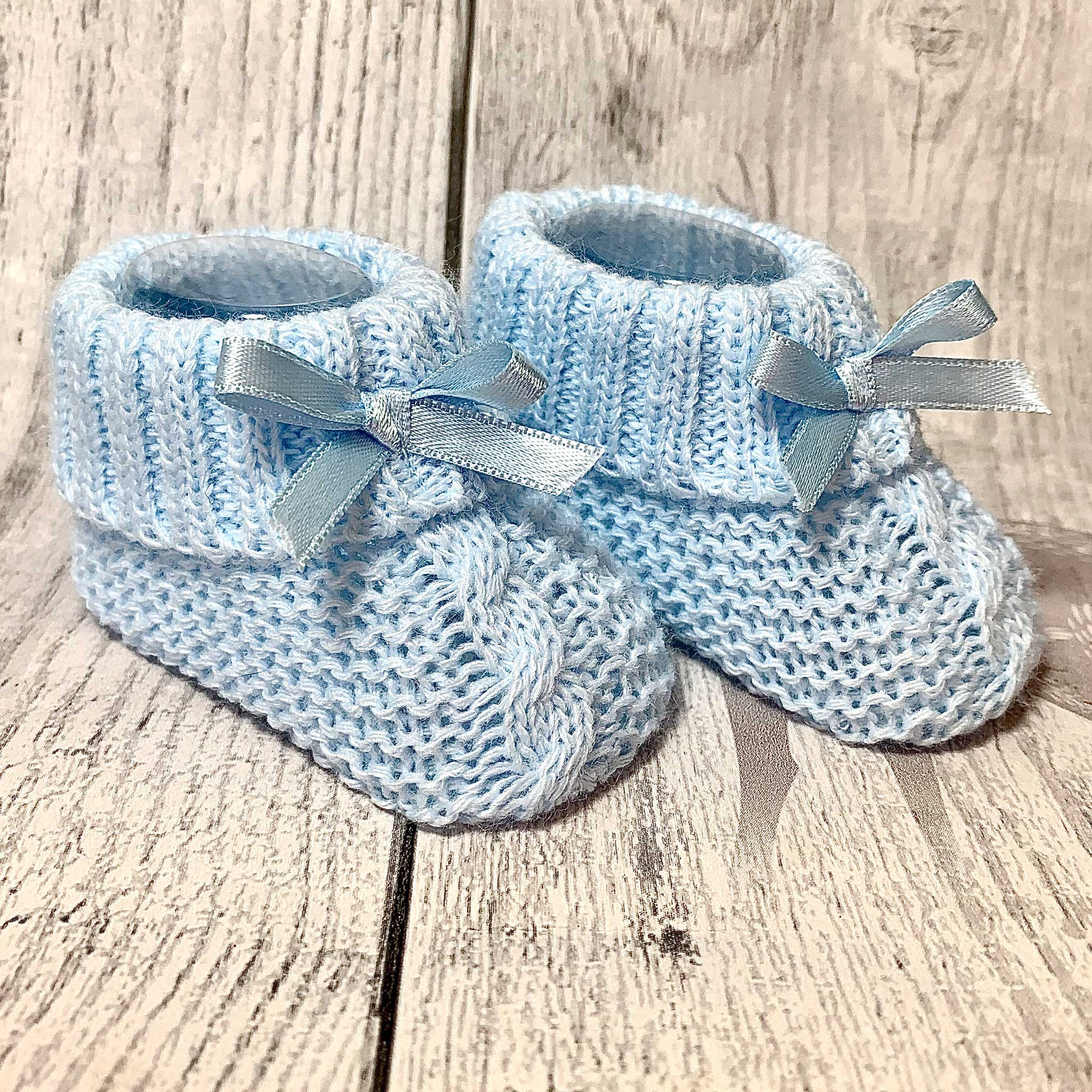 baby boy blue booties
