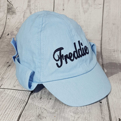 personalised baby boy legionnaire sun hat