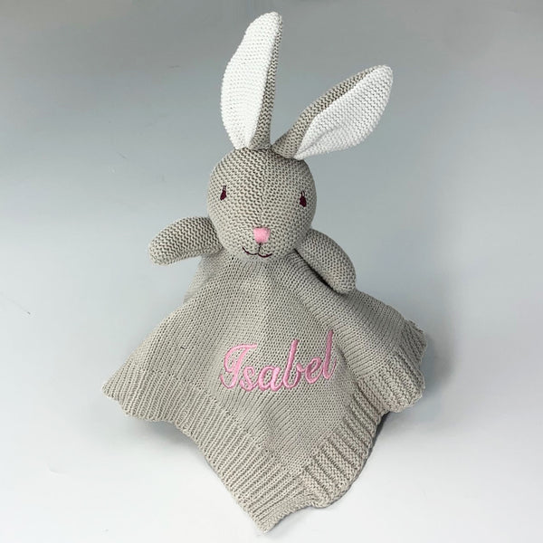 Personalised Baby Dressing Gown - White with Bunny Ears