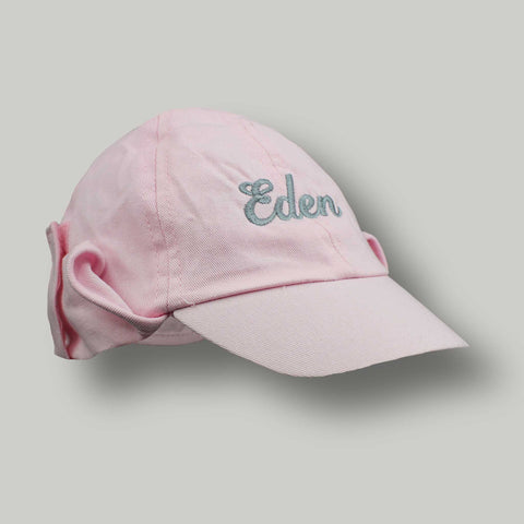 Personalised Sun Hat - Pink Legionnaire with Neck Flap