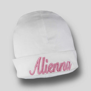 Personalised Baby Cotton Hat -  White