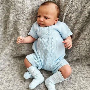 Baby Boys  Knitted Two Piece Outfit - Blue