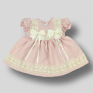 baby girl pink summer dress with bow