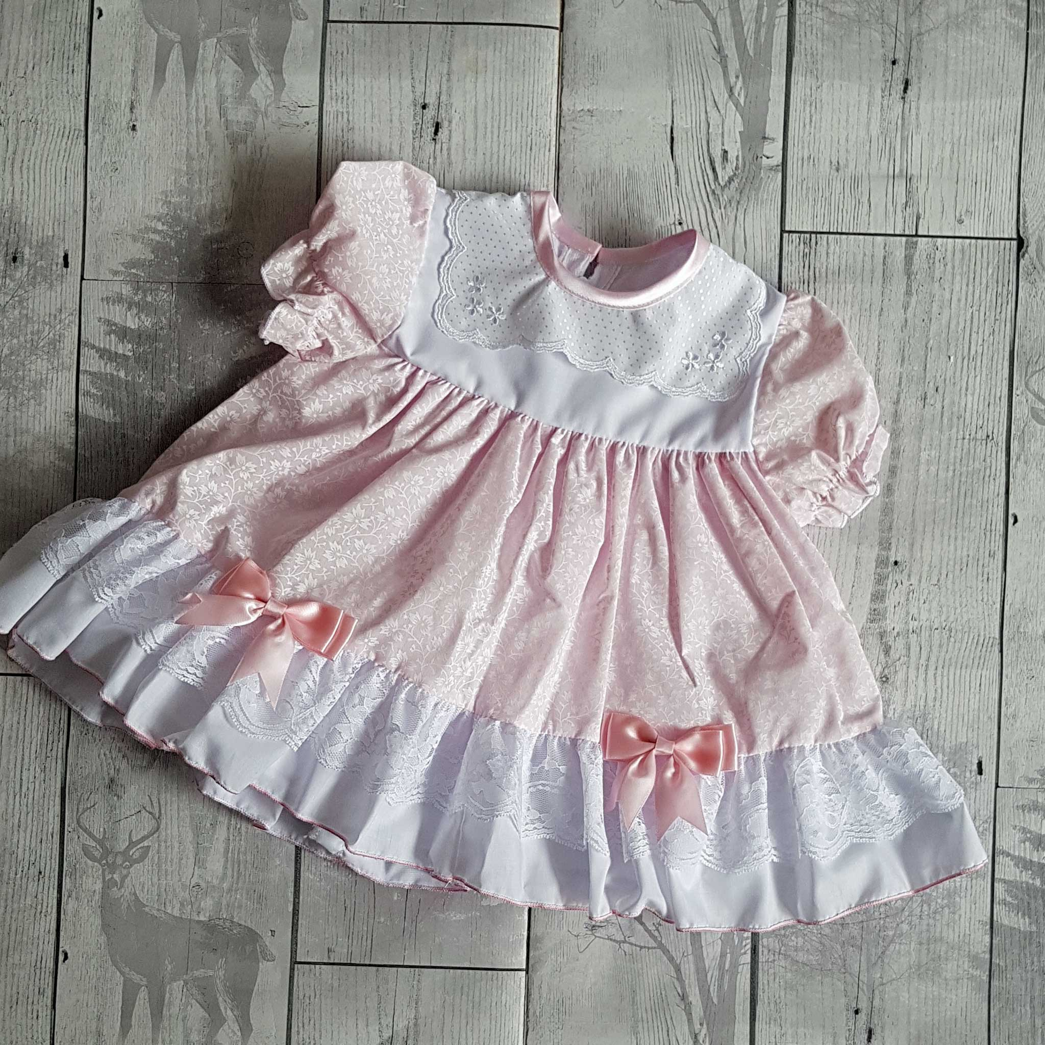 Baby Girl Frilly  Dress -Pink