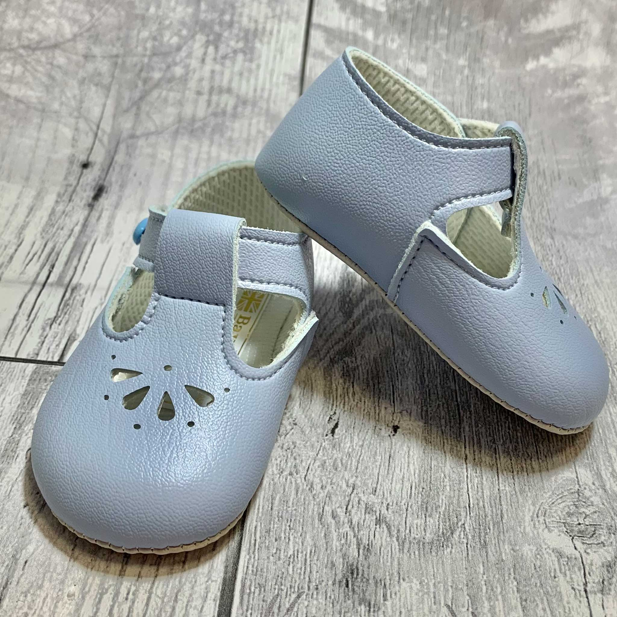 Baby Boy Shoes with Soft Sole and T Bar - Blue