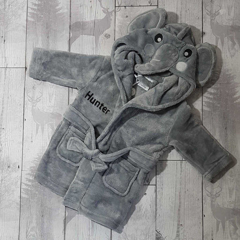 baby elephant dressing gown