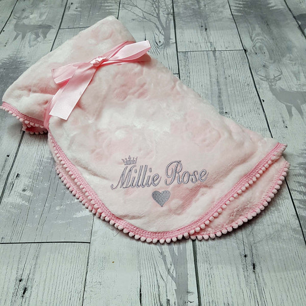 personalised snuggle blanket