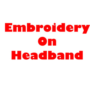 Embroidery on Headband