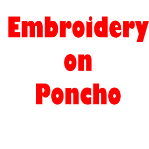 Embroidery On Poncho