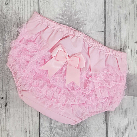 baby frilly knickers pink