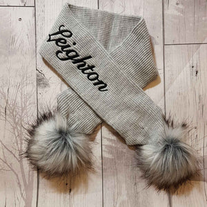 personalised grey scarf