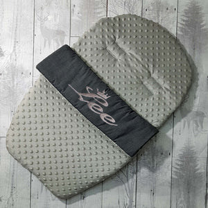 personalised car seat cosytoes grey