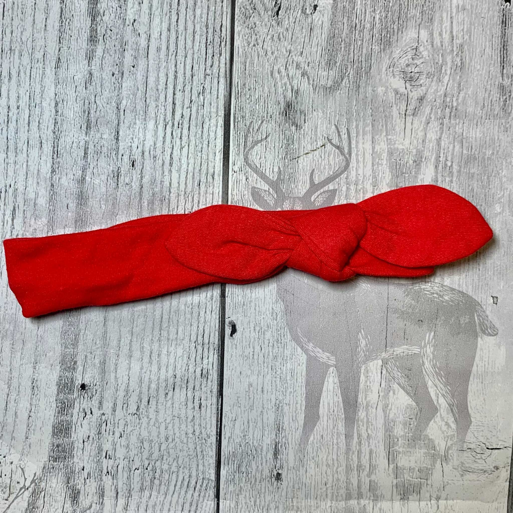 Baby Girls Knotty Headband - Red