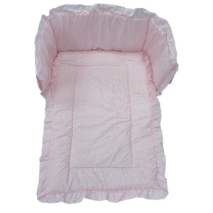 Cot Quilt and Bumper set- Pink