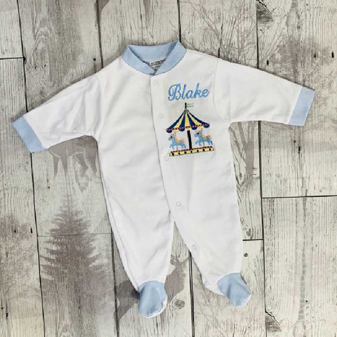 Personalised Baby Boy Sleepsuit