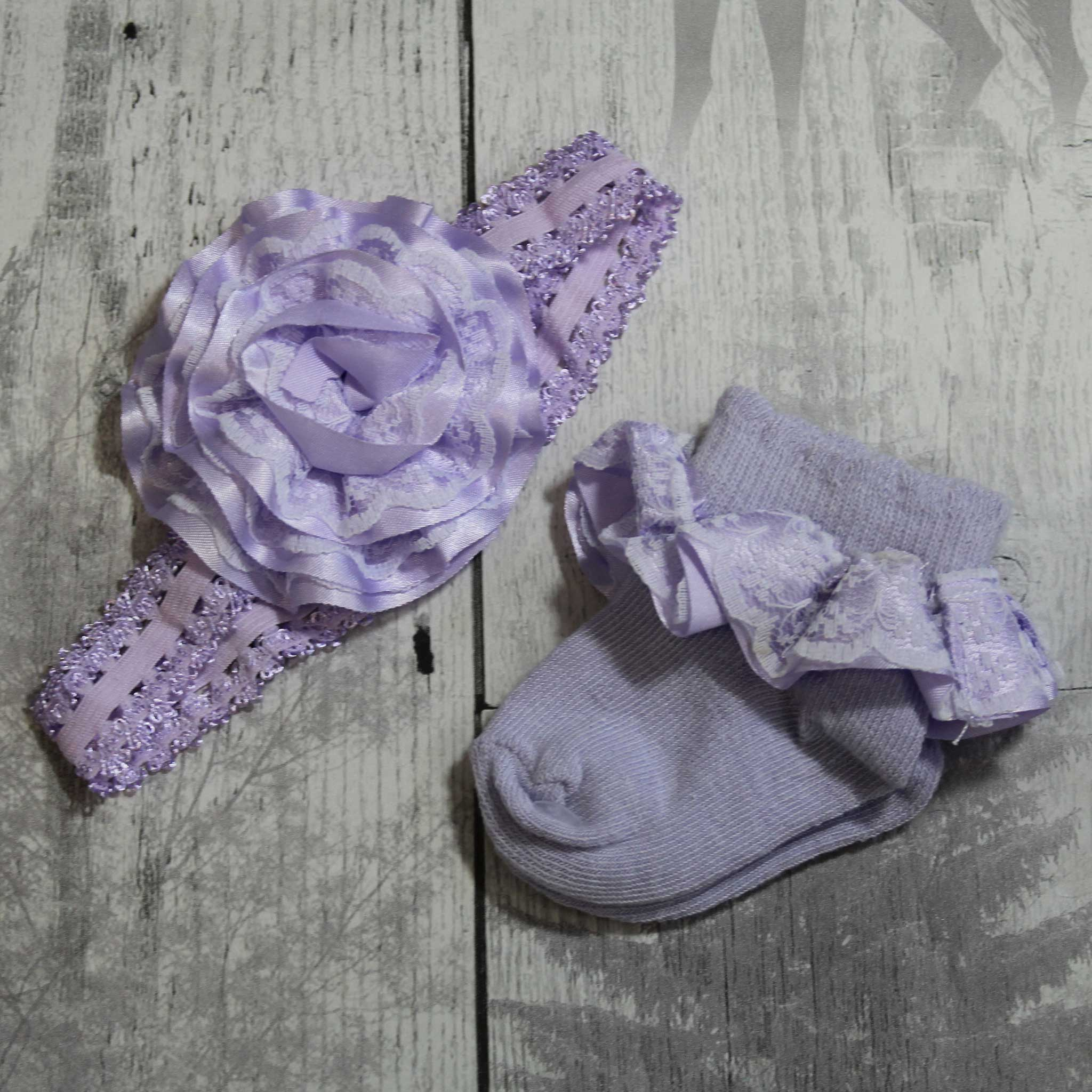 Lilac Socks and Headband Set