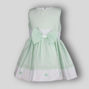 mint green baby dress
