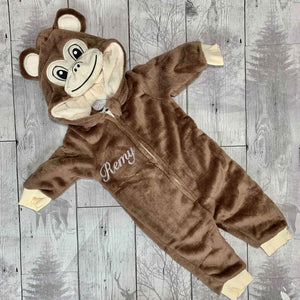 personalised monkey onesie