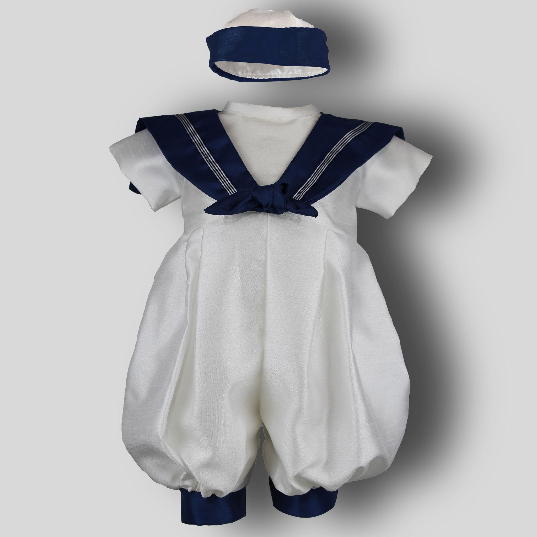 baby boys christening romper traditional
