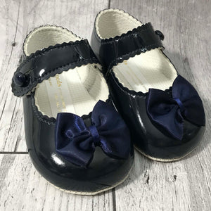 navy blue baby shoes
