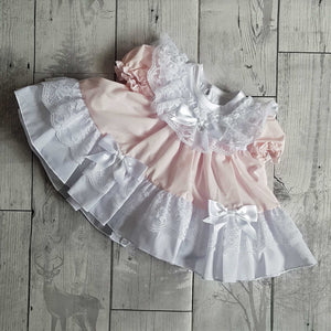 baby frilly dress pink