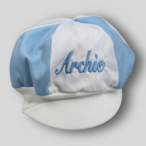 baby boys personalised cotton hat cap